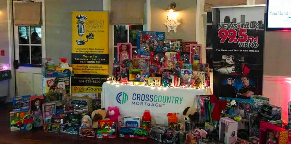 Table of toy donations for Toys for Tots