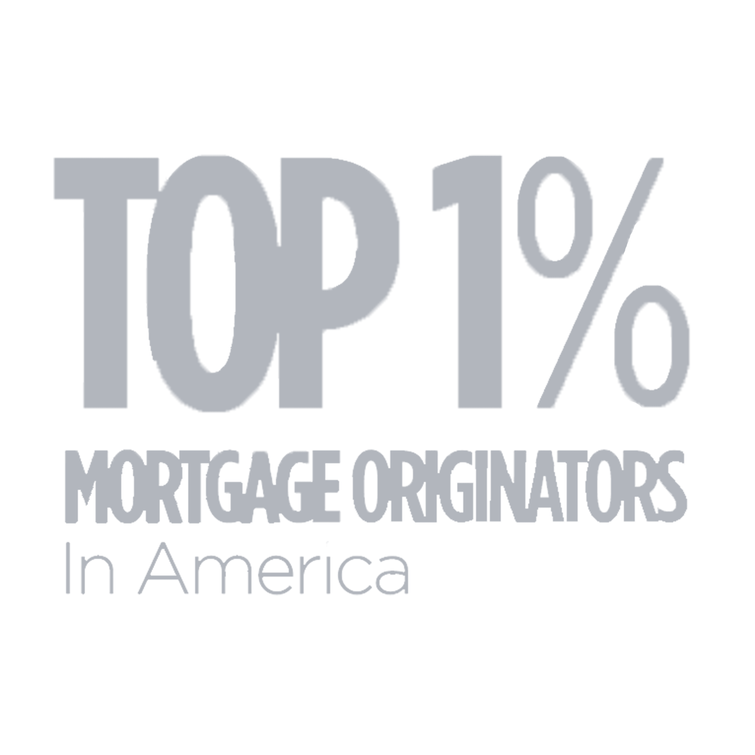 Top 1% Mortgage Originators Award