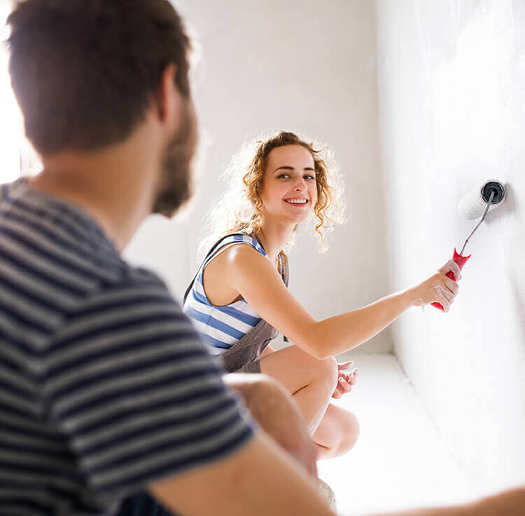 A couple who took their renovation mortgage loan to finance their home renovations